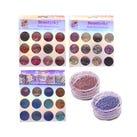 Decoración para uñas glittter y confetí en estuche de acrílico,  BEAUTY SKY, modelos surtidos, 13 X