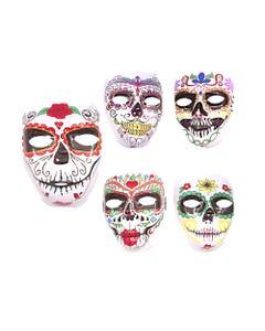 Máscara calavera, HALLOWEEN, inner por modelo sujeto a disponibilidad, 18 X 17 cm.