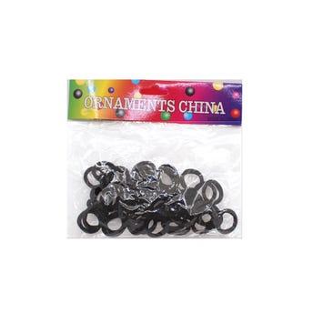 Liga de licra para cabello con 50 pz, negro, 2.5 cm.