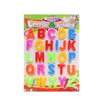 Juego de abecedario con imán, 26 pz, 3.7 X 2.7 cm aprox.