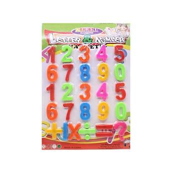 Juego de números con imán, 26 pz, 3.7 X 2.5 cm.