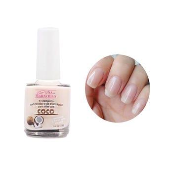 Esmalte tratamiento endurecedor de uñas de coco, MARAVILLA, 15 ml.