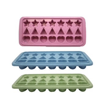 Charola para hacer cubos de hielo de figuras, set de 2 pz, col sujetos a disp, 25 X 11 X 3 cm.