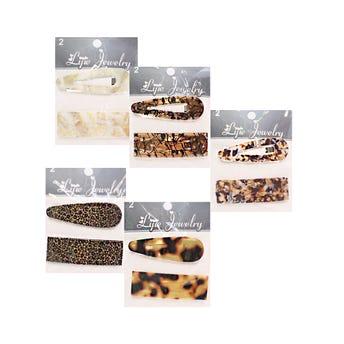 Cuca para cabello decorada, set con 2 pz, modelos surtidos sujetos a disp, 7 cm.