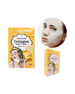 Mascarilla facial textil de colágeno, KISS BEAUTY, 25 ml.