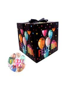 Caja para regalo FELIZ DÍA, modelos surtidos, 22 cm.