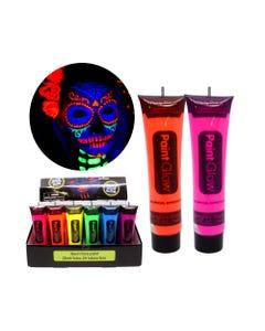 Maquillaje corporal brilla en la obscuridad, HALLOWEEN PAINT GLOW, colores surtidos, 25 ml.