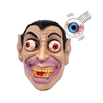 Máscara vampiro ojos saltones, HALLOWEEN, 25 X 20 cm.