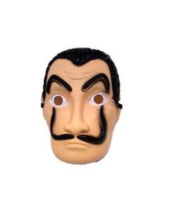 Máscara catrín HALLOWEEN, tipo Dalí modelo # 2, 25.5 x 17 cm.