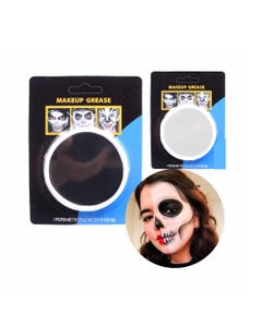 Maquillaje facial para HALLOWEEEN, blanco y negro surt, 4.8 grs.