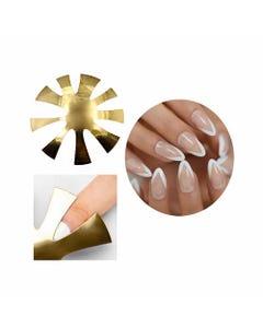 Corta sonrisas para uñas, 2 modelos surrtidos, dorado, 7.5 cm.