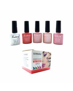 Esmalte para uñas gelish, para sellar con luz UV led, LUODANQI, combinación I, 10 ml.