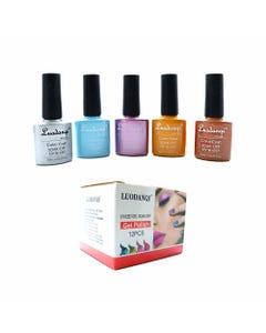 Esmalte para uñas gelish, para sellar con luz UV led, LUODANQI, combinación J, 10 ml.