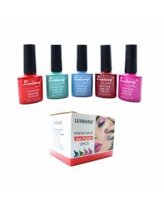 Esmalte para uñas gelish, para sellar con luz UV led, LUODANQI, combinación K, 10 ml.