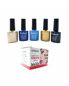 Esmalte para uñas gelish, para sellar con luz UV led, LUODANQI, combinación L, 10 ml.