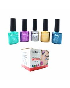 Esmalte para uñas gelish, para sellar con luz UV led, LUODANQI, combinación M, 10 ml.