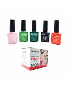 Esmalte para uñas gelish, para sellar con luz UV led, LUODANQI, combinación O, 10 ml.