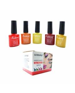 Esmalte para uñas gelish, para sellar con luz UV led, LUODANQI, combinación P, 10 ml.