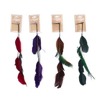 Pinza para cabello con plumas grandes colgantes, PRINCESS, colores surtidos.
