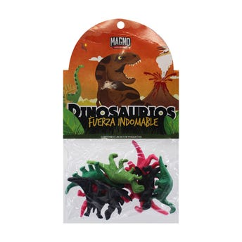 Dinosaurios Depredadores Salvajes, Contiene 8 Piezas, Colores Surtidos.