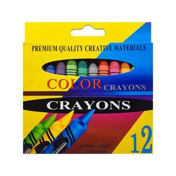 Crayola COLOR CRAYONS, contiene 12 piezas, por caja, colores surtidos.